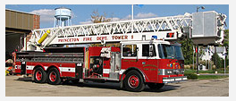 Princeton Fire Department IL Pierce LTI tower ladder