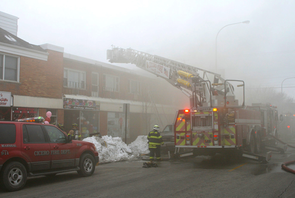 Cicero Fire Department 2-11 Alarm on 35th Street 2-12-11