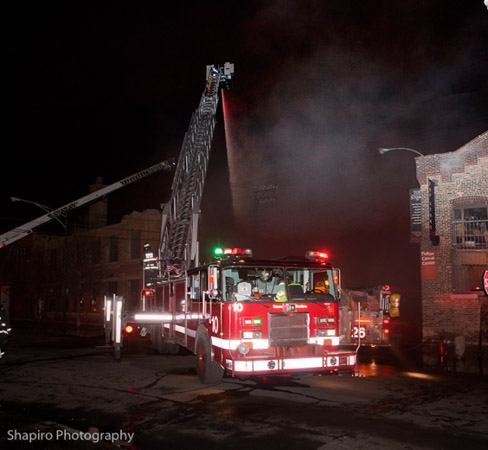 Chicago Fire Department 2-11 Alarm fire on Fulton Street