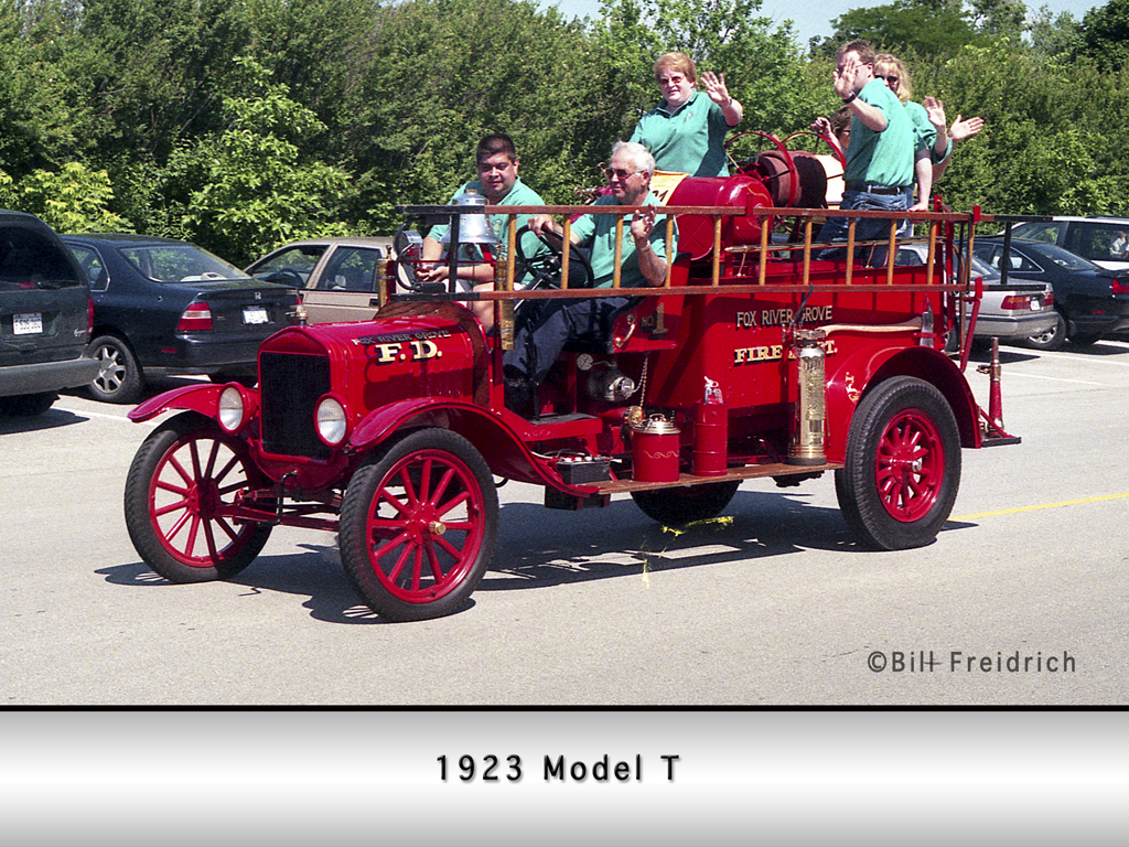 Fox River Grove Fire Protection District Model T fire truck