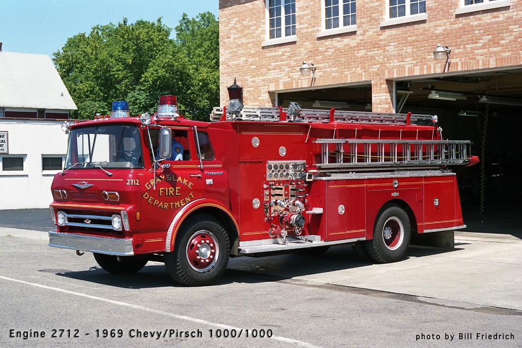 Grayslake Fire Department history Pirsch engine