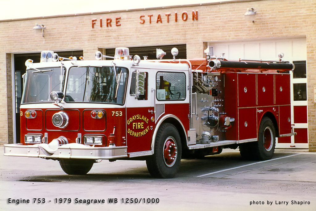 Grayslake Fire Department history Seagrave WB engine