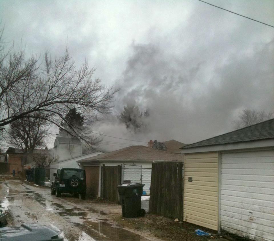 Lyons FIre Department house fire on Konrod Feb 20, 2011