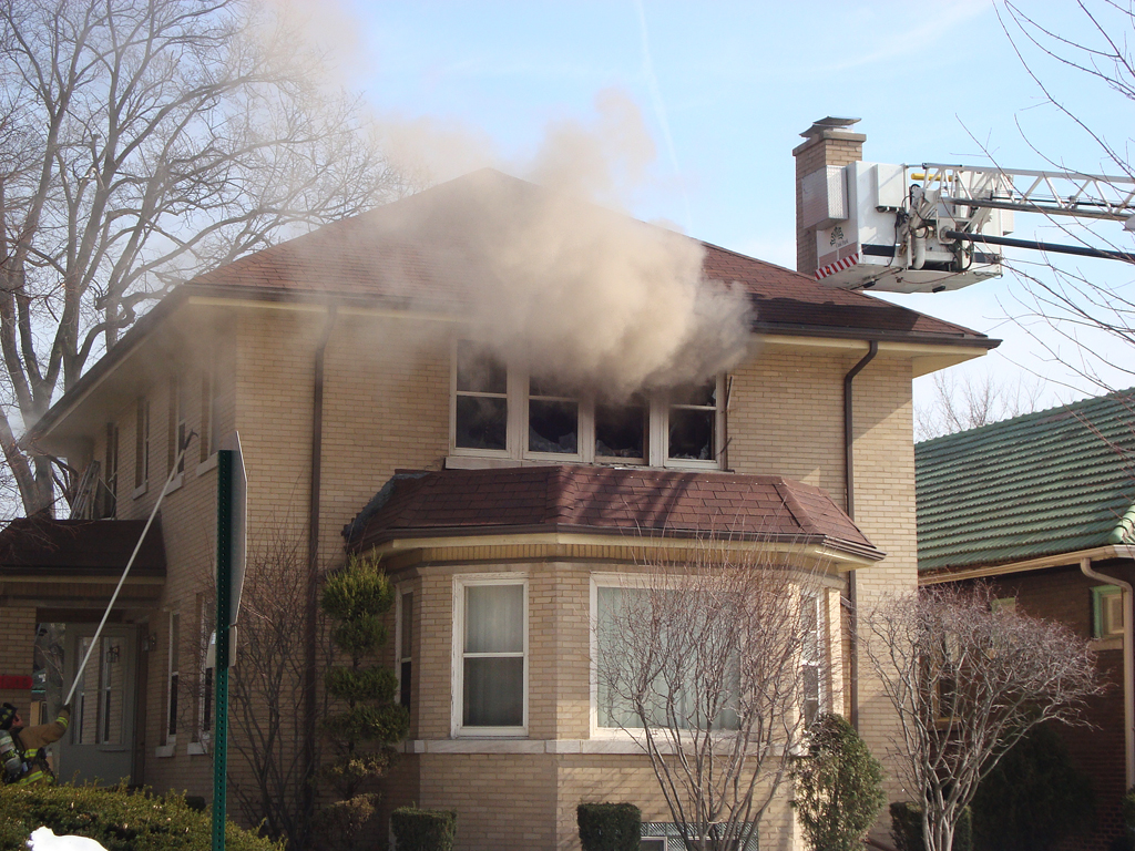 Oak Park Fire Department house fire Feb 16, 2011