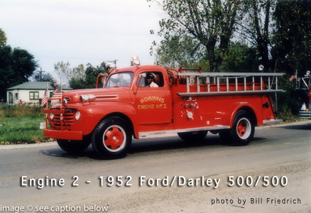 Robbins Fire Department antique fire engine