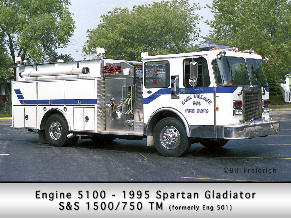 Sauk Village Fire Department Spartan S&S engine