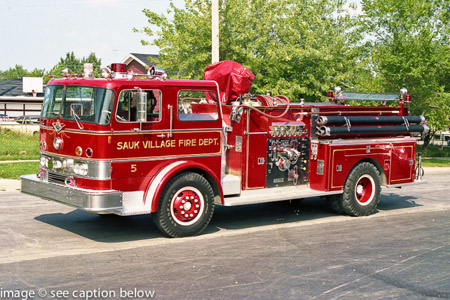 Sauk Village Fire Department IHC/Darley pumper