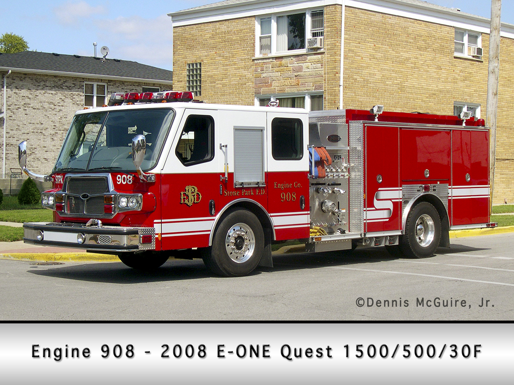 Stone Park Fire Department E-ONE Quest engine