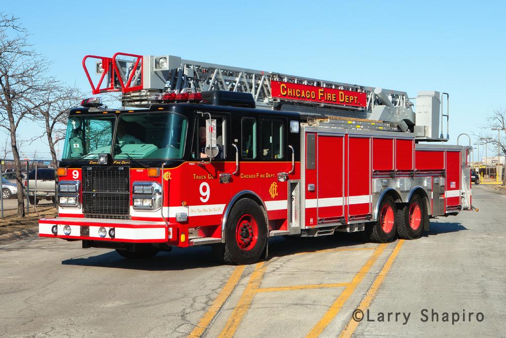 Chicago Fire Department Spartan Crimson Truck 9