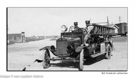 Robbins Fire Department antique engine