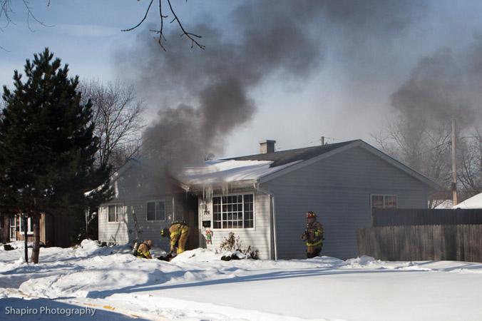 Wheeling Fire Department house fire 2-12-11