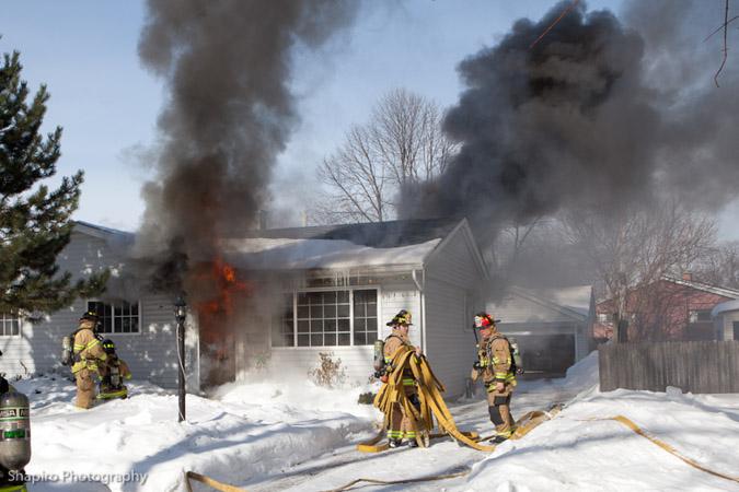 Wheeling Fire Department house fire Fletcher 2-12-11