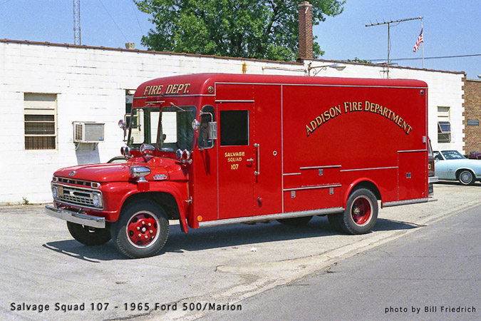 Addison Fire Department history 1965 ford fire truck