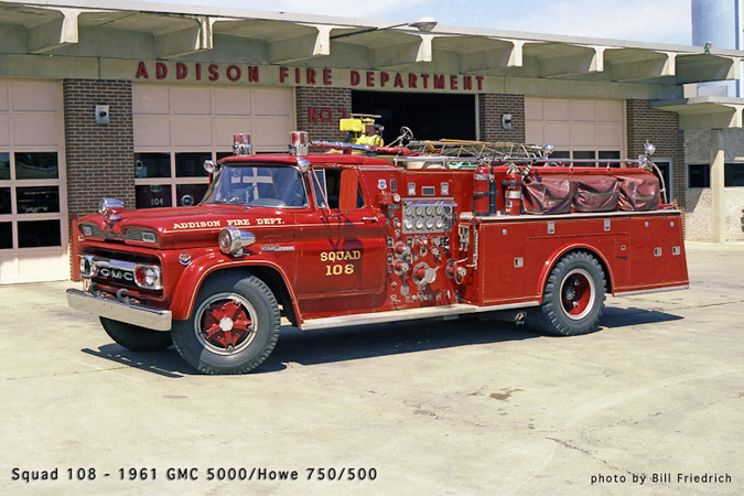 Addison Fire department history 1961 Howe pumper