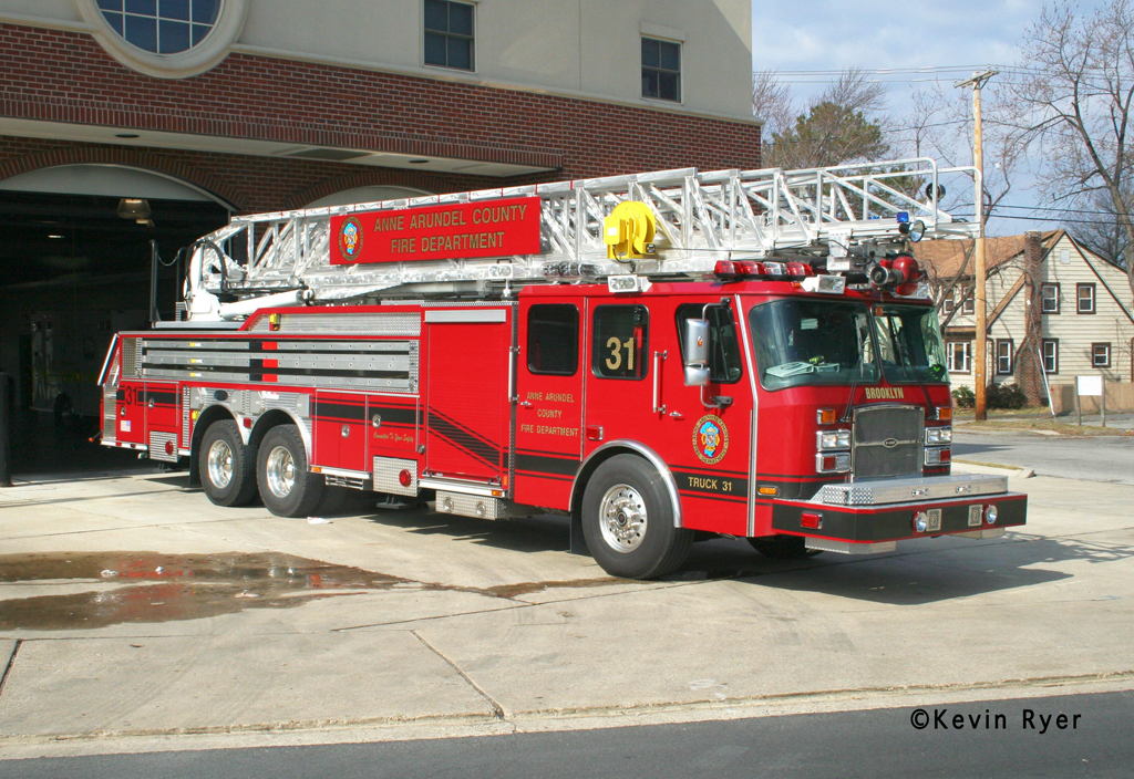 Anne Arundel County Truck 31 Brooklyn Volunteer Fire Department