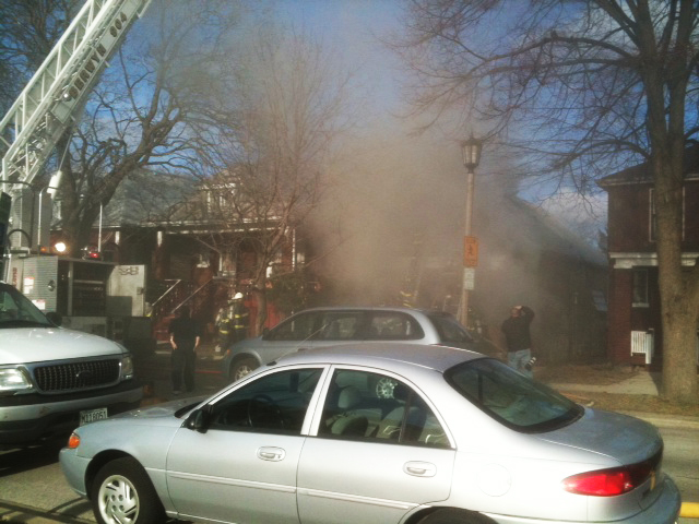 Berwyn Fire Department house fire on Harvey 3-27-11