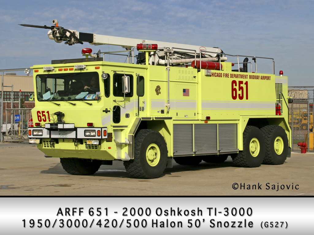 Chicago Fire Department Midway Airport ARFF 651 6-5-1 Oshkosh