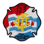 Chicago Fire Department patch Engine 123