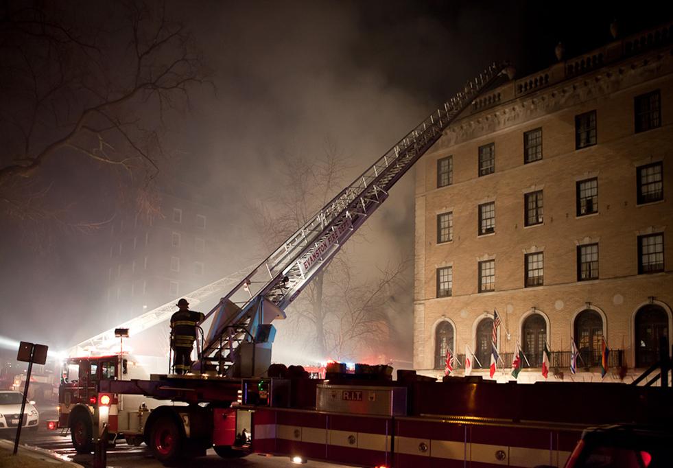 Evanston Fire Department 3-11 museum fire 3-15-11