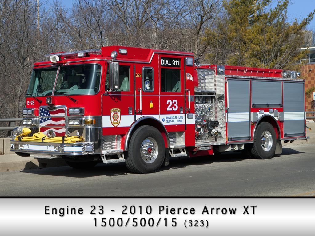 Evanston Fire Department Engine 23 Pierce Arrow XT