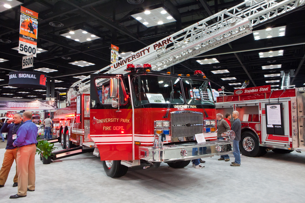 FDIC 2011 University Park Fire Department E-ONE tower ladder