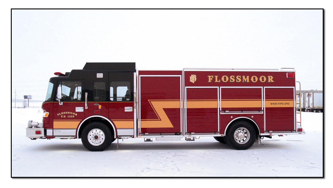 Flossmoor Fire Department new Spartan Crimson rescue pumper