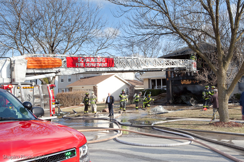 Schaumburg Fire Department house fire on Kingsport Drive 3-27-11