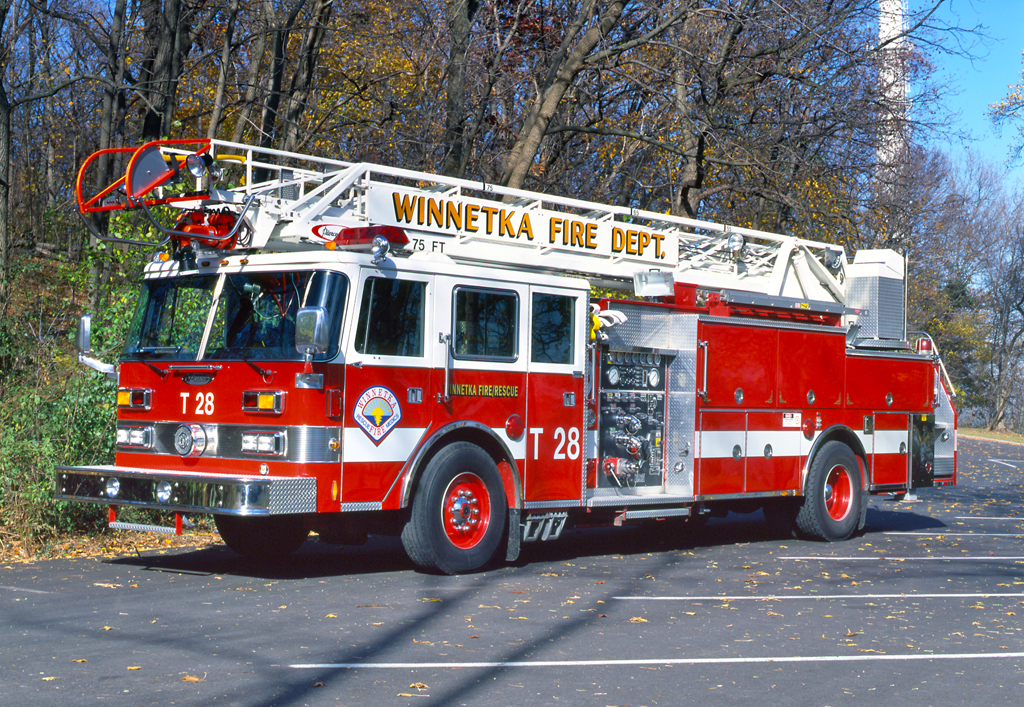 Winnetka Fire Department Truck 28 Pierce Arrow