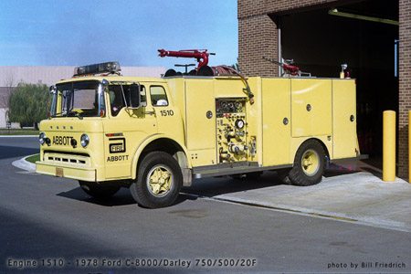 Abbot Labs Fire Department Lake County IL Darley industrial pumper