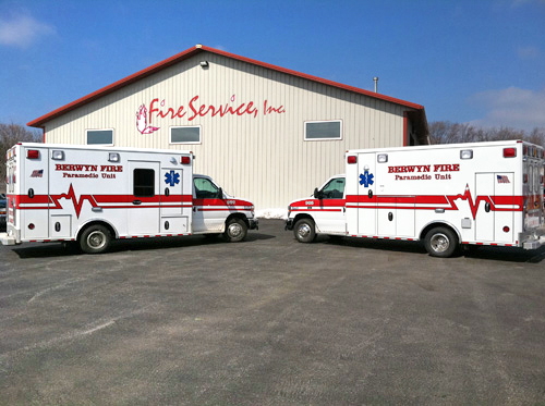 Berwyn Fire Department Wheeled Coach ambulances