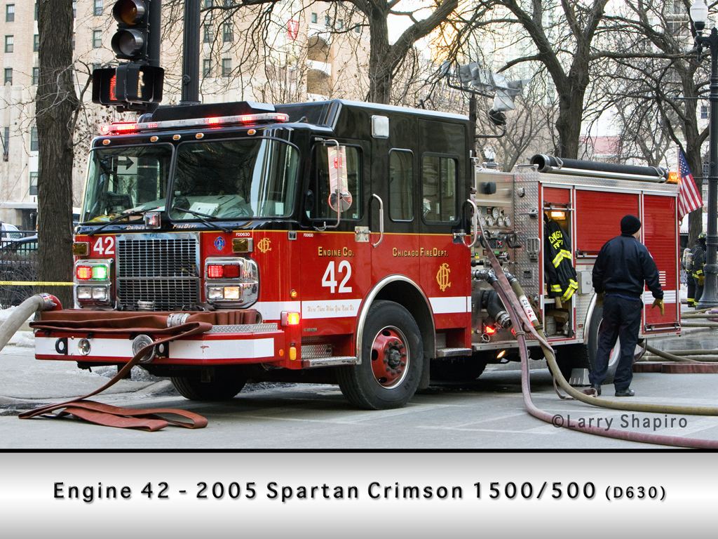 Chicago Fire Department Engine 42 Spartan Crimson