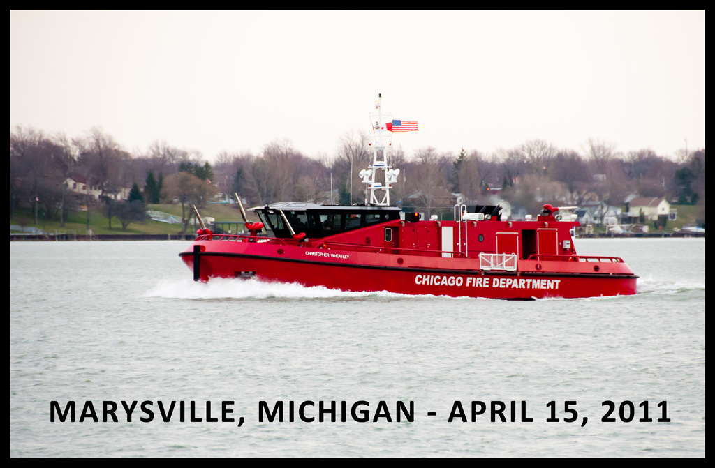 Chicago Fire Boat 'The Christopher Wheatley' Marysville FD