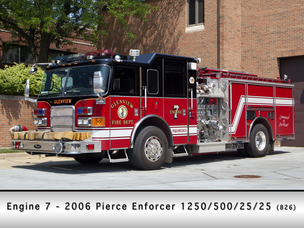 Glenview Fire Department Engine 7 Pierce Enforcer