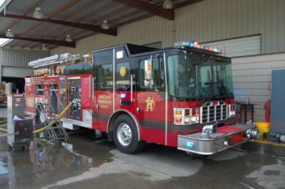Huntley Fire Department Ferrara engine