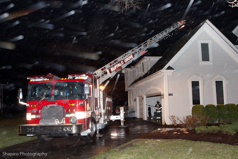 Long Grove Fire Department Lightning Strike Stayton Lane Buffalo Grove Quint 27