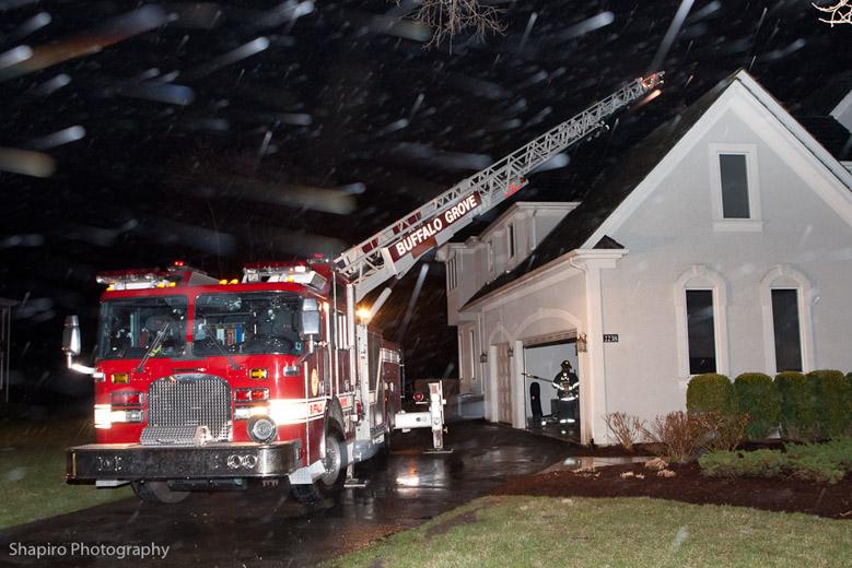 Long Grove Fire Department Lightning Strike Stayton Lane Buffalo Grove Quint 27