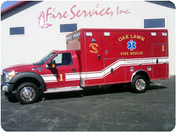 Oak Lawn Fire Department Wheeled Coach ambulance