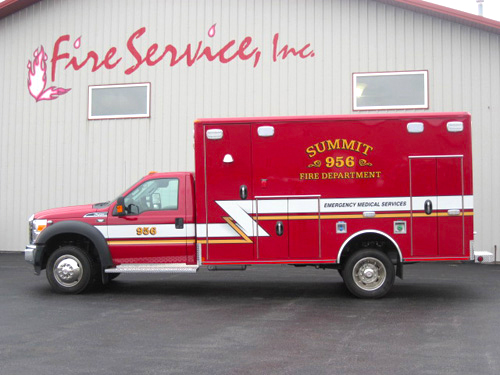 Summit Fire Department Wheeled Coach ambulance