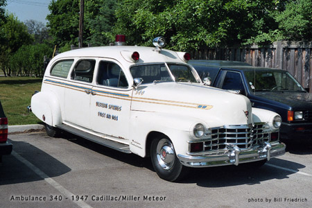 Western Springs Fire Department Cadillac ambulance