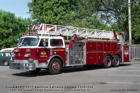 Western Springs Fire Department American LaFrance Ladder Chief Quint