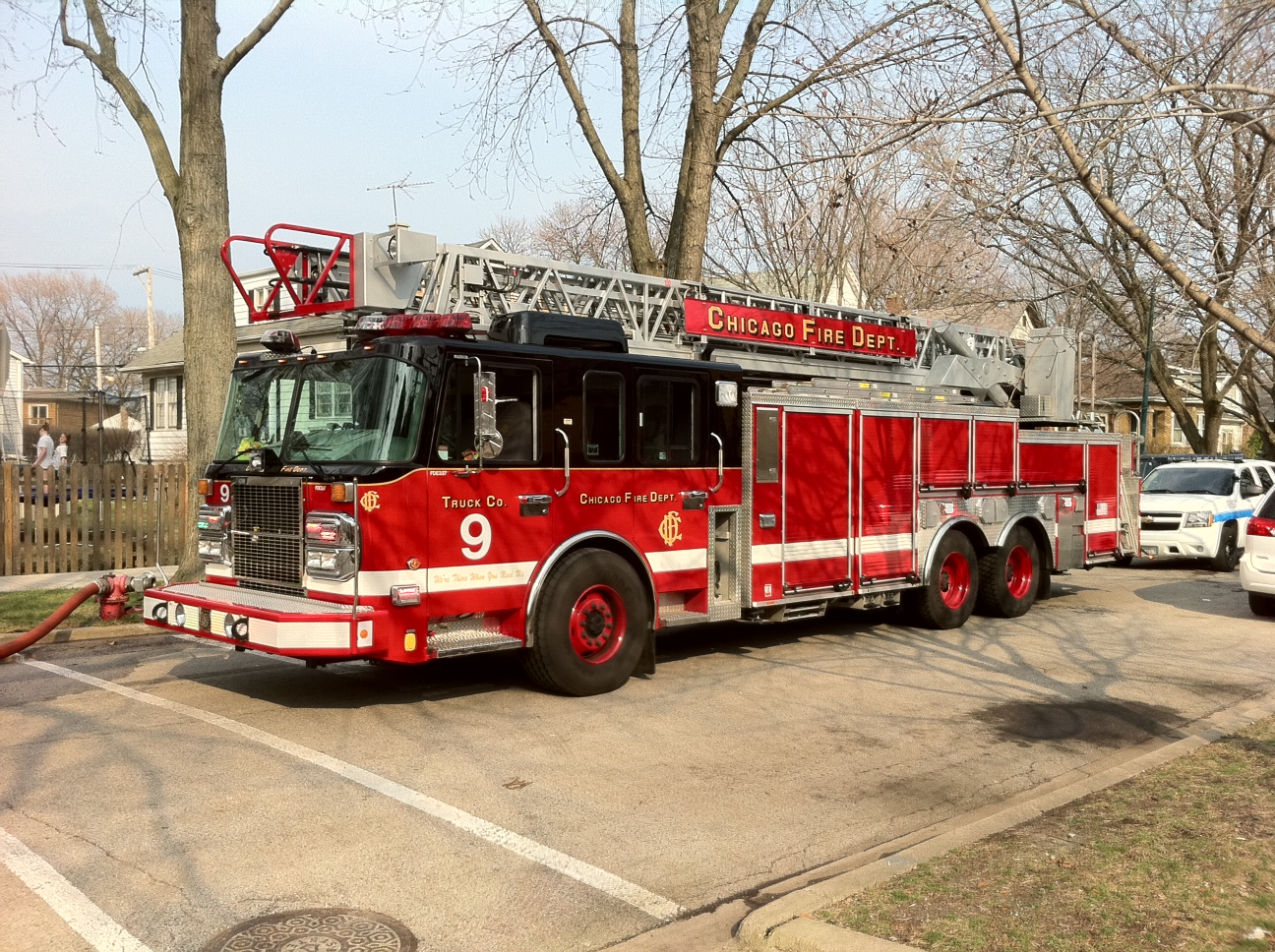 Chicago Fire Department Truck 9 2010 Spartan Crimson