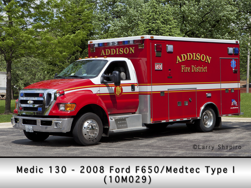 Addison Fire District medic unit Ford F650 Medtec
