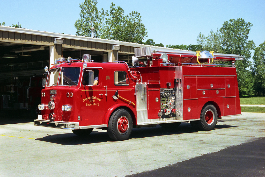 Argonne Labs Fire Department 1965 Pirsch squad