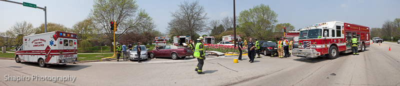Buffalo Grove Fire Department EMS Box Alarm multi-vehicle accident Milwaukee Ave Busch Parkway
