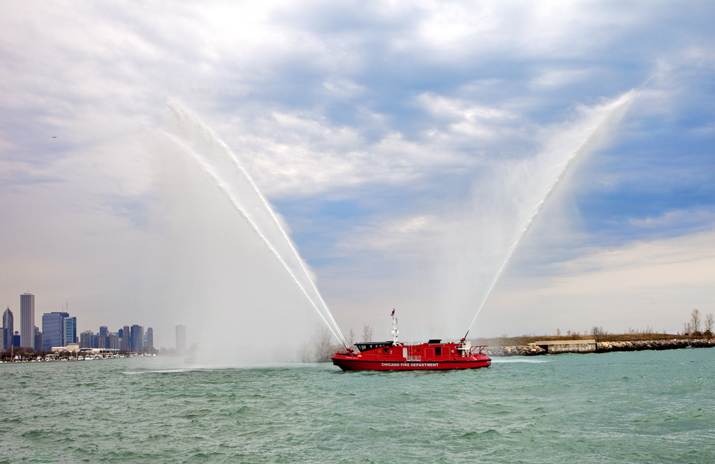 Chicago Fire Department Engine 2 Fire Boat Christopher Wheatley
