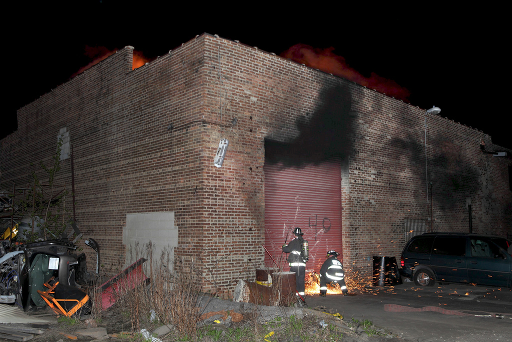 Chicago 2-11 alarm fire 3401 S Lawndale 5-2-11