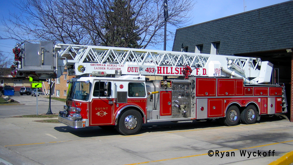 Hillside Fire Department Duplex/Grumman AerialCat tower ladder