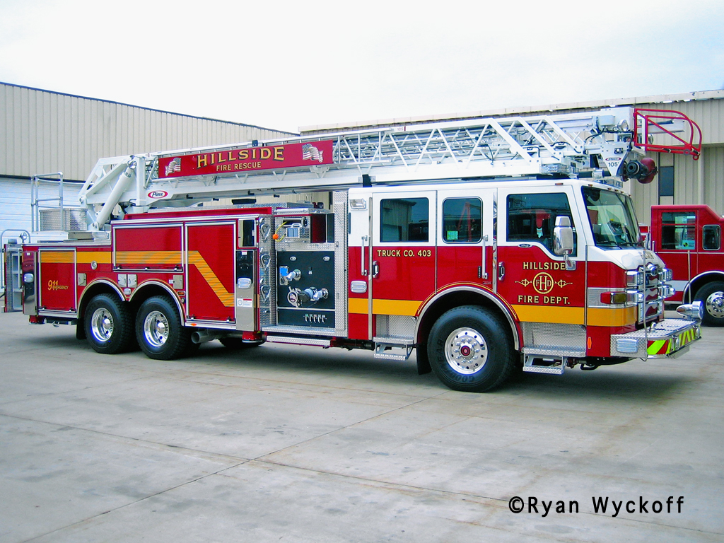 Hillside Fire Department Truck 403 2011 Pierce Velocity