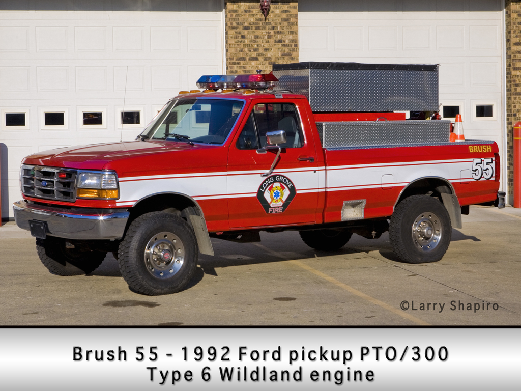 Long Grove Fire Department Type 6 wildland unit