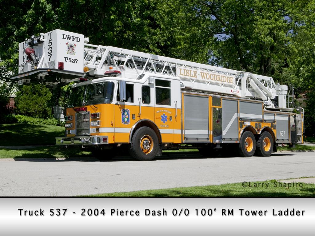Lisle Woodridge FPD Pierce Dash tower ladder 537